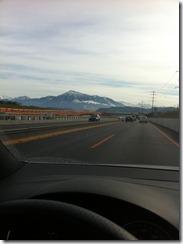 Die Berge sind schon zu sehen